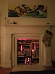 2016 Christmas Fireplace Lights (Uncle Catherine) Tags: christmas xmas christmas2016 holidays decorations home apt williamsburg brooklyn