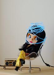 Switch in my Brain (Minit) Tags: blythe doll allgoldinone goldie neon