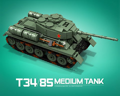 T-34/85_B (bijanz) Tags: army tank lego russia military ww2 russian worldwar t34 t3485 su85 su100 legotank