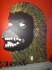 DSC01706 (homeschoolator) Tags: painting monkey mural king grafitti gorilla rubber kong jiggler