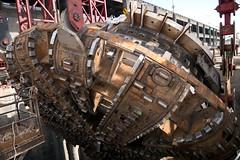 Bertha's enhanced cutterhead on display (WSDOT) Tags: seattle construction gp repairs bertha tunneling tunnelboringmachine reassembly mammoet wsdot alaskanwayviaductreplacement sr99tunnel
