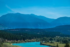 Rocky Mountains above the Warden River, near Fort Steele, Canada.