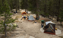 Our camp at Glen Aulin (alicecahill) Tags: california camping usa nature nationalpark tent sierra yosemite backpack yosemitenationalpark sierranevada alicecahill