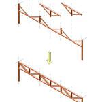 木製組立て構造部材システムの写真