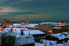 Dawn in Tomsk |    (constantiner) Tags: dawn twilight cityscape russia horizon roofs ru tomsk                  tomskayaoblast