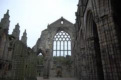 The ruins of Holyrood Abbey (mademoisellelapiquante) Tags: uk castle architecture scotland ruins edinburgh ruin medieval holyrood royalmile holyroodhouse holyroodabbey