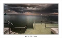 Enter The Storm (John_Armytage) Tags: seascape storm pool rain clouds sunrise newcastle dawn australia nsw hailstorm nbn stormchaser stormcell oceanbaths newcastleoceanbaths northcoastnsw sony1635 johnarmytage sonya7r2