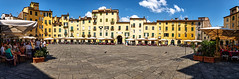 Panorama - Piazza dell' Anfiteatro (Lucca) (Only Snatches) Tags: italien italy panorama ice square platz lucca tuscany toscana hdr toskana anfiteatro piazzadellanfiteatro