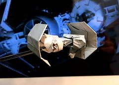 TIE Bomber origami prototype (Matayado-titi) Tags: starwars origami space tie vehicle spaceship bomber starship tiefighter starfighter sugamata matayado shusugamata