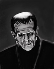Frankenstein Digital Sketch (ashley russell 676) Tags: cinema classic monster frankenstein horror boris undead corpse creature paranormal supernatural cadaver karloff