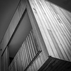 Detail 1 (phunnyfotos) Tags: bw house detail building home architecture square mono nikon apartment angle timber balcony australia monotone victoria lookingup cube vic residence residential governmenthousing unit gippsland publichousing socialhousing warragul 2011 3820 austpctagged pc3820 d5100 nikond5100 phunnyfotos welfarehousing