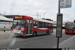 8019 (northwest85) Tags: bus station pointer heathrow central surrey alexander dennis dart 555 slf dmy 8019 abellio bx54 bx54dmy