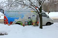 Belarus Minsk (rolfij) Tags: belarus minsk vehicle van text snow tree advertising