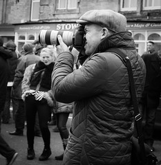 If you point that at me, I shall pose!!! (judy dean) Tags: street camera girl square photographer newyear meet snapper hunt stowonthewold 2016 judydean sonya6000