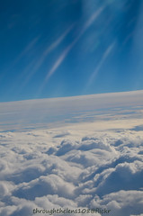 The sun always shines... above the clouds.. (throughthelens108) Tags: from above cloud airplane view an clear