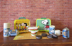 Snoopy's Retro Kitchen # 5 (MurderWithMirrors) Tags: miniature cookie sandwich snoopy lunchbox rement thermos mwm retrokitchen