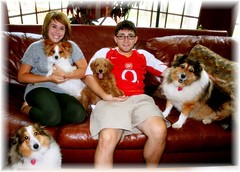 bear-and-his-family--hes-one-of-ginger-and-chewys-puppies-_4910313805_o