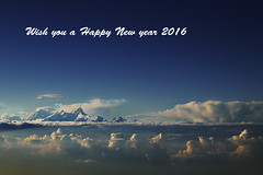 Happy new Year 2016 (Ivo De Decker back from holiday) Tags: nepal sky mountains clouds asia heaven newyear himalaya happynewyear himalayanrange ivodedecker