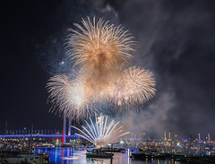 000092015-12-31 New Year (jeanlucritelle) Tags: night fireworks melbourne docklands nuit feu artifice fusee