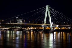 severinsbrucke (carstenhartmann1994) Tags: city bridge lights long exposure kln colonge reflaction rheinauhafen severinsbrcke