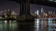 Manhattan Bridge Night Time Lapse (Michael.Lee.Pics.NYC) Tags: newyork manhattanbridge eastriver brooklynbridge tower fdrdrive night brooklynbridgepark empirefultonferry video timelapse sony a7rm2 fe1635mmf4