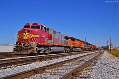 "Westbound Local in North Kansas City, MO (""Righteous"" Grant G.) Tags: atsf santa fe bnsf up union pacific railroad railway kansas city missouri ns north west westbound local csx csxt train trains locomotive"