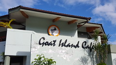 Goat Island Cafe -- we ate and drank here every day to do our part to break the curse of the goat, and we're sure this is why the Cubs are now in the World Series