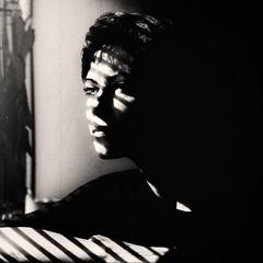 Silent Film :) (Natalia Medd) Tags: shadow window bw black white monochrome low key portrait blinds night