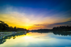 MacRitchie sunset (harryphan85) Tags: sunset dusk twilight park skyline sky cloud landscape cityscape long exposure singapore blue hour