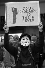 Your ignorance is their power (Red Cathedral has left Osaka) Tags: sonyalpha a77markii a77 mkii eventcoverage alpha sony colorrun sonyslta77ii slt evf translucentmirrortechnology redcathedral streetphotography belgium alittlebitofcommonsenseisagoodthing activism protest zwartwit noirblanc noiretblanc blackandwhite anonymous hacker hacktivist occupy demonstration brussels brussel bruxelles bruxellesmabelle jesuisbruxelles revolution revolt rememberrememberthefifthofnovember wearemarching guyfawkes mask maskedfaces mmm millionmaskmarch mmm2016 vforvendetta freedomofspeech freedomnotfear liberty democracy powertothepeople ceta ttip gunpowderplot anons lulz