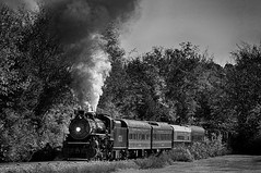 Summerville Steam Special (Howell Weathers) Tags: summervillesteamspecial steamengine steam engine tennesseevalleyrailroad tennvalleyrr tvrr 4501 282 mikado blackandwhite monochrome blackwhite hdr