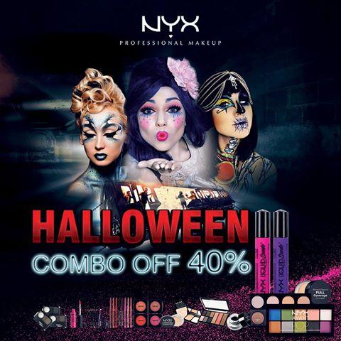 #Fearless Halloween SALEOFF 40% bộ COMBO son, nền và đôi mắt quyến rũ