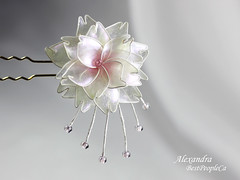 Hair Pin (BestPeople.Ca) Tags: hair pin resin kanzashi cherry blossom handmade transparent forgetmenot