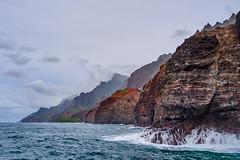 Na Pali Coast (AgarwalArun) Tags: sonya7m2 sonyilce7m2 hawaii kauai island landscape scenic nature views mountain fog clouds storm weather napalicoast pacificocean ocean water waves surf napali ruggedcoastline cliffs