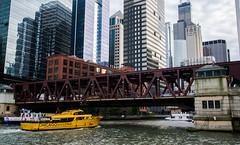 Water Taxi (ingbalfaro) Tags: usa building chicago river street boat skyscrapper bridge