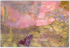 From Karen Hamilton (tofuart) Tags: pink pinkweek mailart postcard postal art