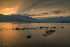 Sonnenaufgang am Thunersee / Sunrise at Lake Thun (Explored...thank you so much!) ♥ (Claudia Bacher Photography) Tags: thunersee lakethun sonnenaufgang sunrise schweiz suisse switzerland berneroberland mountain berge see lake steine stones clouds wolken wasser water himmel heaven langzeitbelichtung longexposure landschaft landscape natur nature outdoor sonya7r