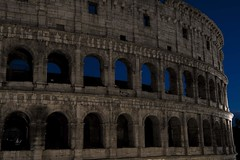 Colosseum at Night (noname_clark) Tags: italy rome vacation honeymoon night dark colosseum longexposure