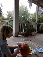 Carving (cmrowell) Tags: jeremy jeremy9 halloween pumpkin jackolantern frontporch california