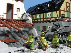 November 26, 1944- Strasbourg, Alsace (Sgt._Johnson) Tags: wwii scene lego american france m8 hmc