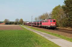 Leschede (treineninhetnoorden) Tags: emslandstrecke leschede db cargo e40 139 132 1325 140 baureihe emden autotrein autozug volkswagen vw
