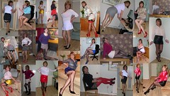 Mini skirts Montage (janegeetgirl2) Tags: transvestite crossdresser crossdressing tgirl tv ts stockings heels garters nylons glamour white red satin stilettos fully fashioned high seams black contrast suspenders jane gee tights mini skirt montage
