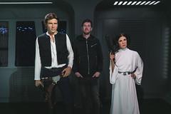 Han & Leia (Strangelove 1981) Tags: 2016 berlin holiday travel madametussauds starwars aaron me hansolo princessleia carriefisher harrisonford blaster