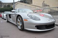 Porsche Carrera GT (Monde-Auto Passion Photos) Tags: auto automobile porsche carrera gt coup gris sportive supercar france rally paris evenement