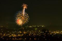 Sherdley Park fireworks finale, from 5 miles away! (ianbonnell) Tags: fireworks sthelens billinge merseyside england northwestengland