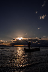 Sunset (hilmi_cskn) Tags: sunset sun sky clouds cloud color colors landspace light lake ray reflection fisherman fishing blue olympus outdoor gl kl