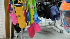 Tools (Sam Millen) Tags: cyprus beach spade shop night plastic