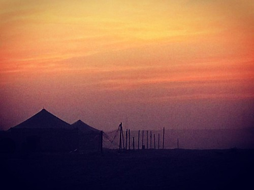 Tents are up .. camping season has started #camping #sunset #tents #nightunderthestars #skies #silhouette #creative_silhouette #gulflife #gulfwinters #bbqseason #endofanotherday #ig_bahrain_ #ig_bahrain