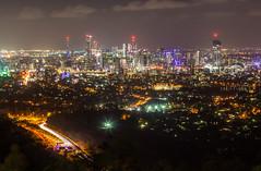 mt. coot-tha @ night (nzfisher) Tags: cityscape landscape night canon coottha brisbane queensland australia longexposure city centralcity lights lighttrial 85mm