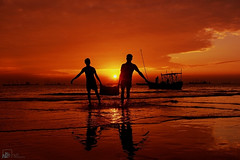 IMG_8798 (Jams Nabil) Tags: sunset outdoor sea serene water sky lifestyle people colors flickr explore bangladesh photographer photography photos canon